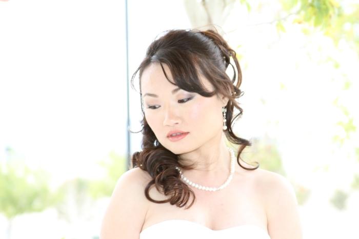 Bridal closeup photography pose